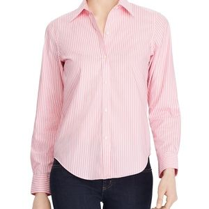 Lauren pink striped shirt 2X